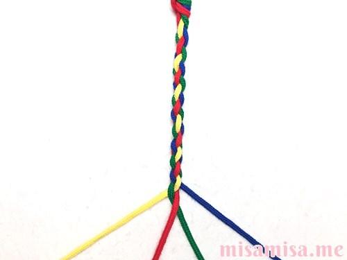 丸四つ編み(四つ組み)ミサンガの作り方手順15
