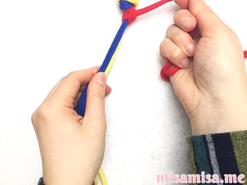 輪結びミサンガの作り方手順8