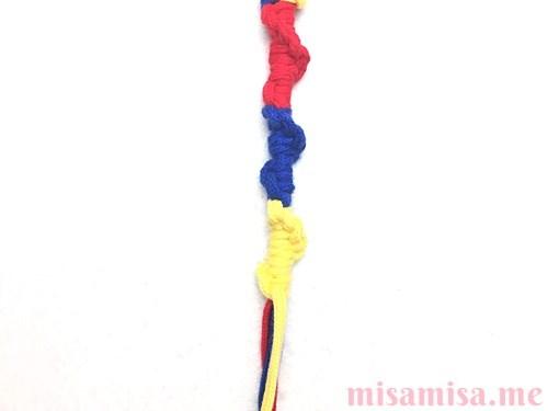 輪結びミサンガの作り方手順12