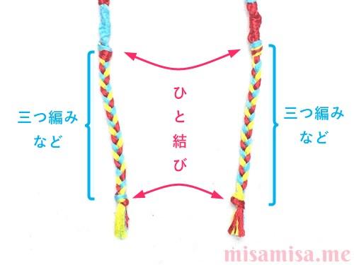 輪結びミサンガの作り方手順14
