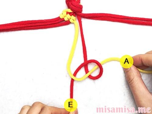 市松模様(ブロックチェック柄)ミサンガの作り方手順26