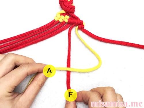 市松模様(ブロックチェック柄)ミサンガの作り方手順53