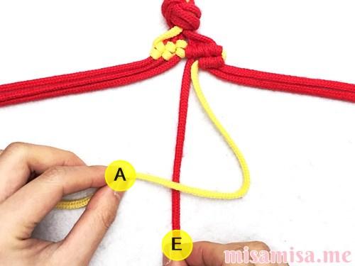 市松模様(ブロックチェック柄)ミサンガの作り方手順60