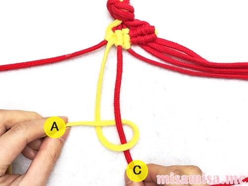 市松模様(ブロックチェック柄)ミサンガの作り方手順77
