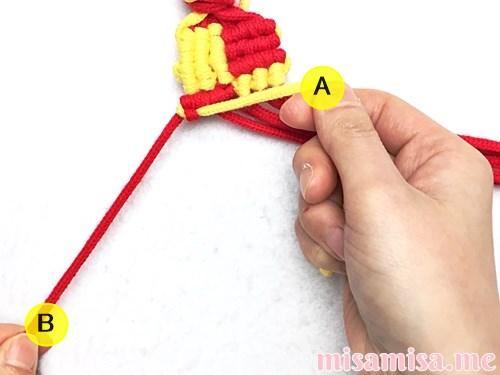市松模様(ブロックチェック柄)ミサンガの作り方手順107