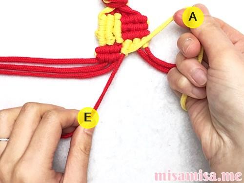 市松模様(ブロックチェック柄)ミサンガの作り方手順115