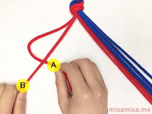 矢羽根模様ミサンガの作り方手順4