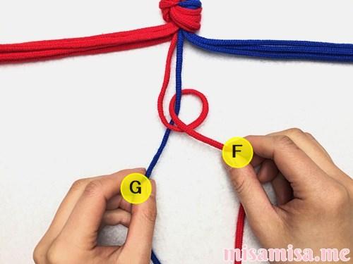 渦巻き模様ミサンガの作り方手順5
