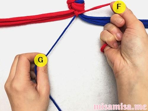 渦巻き模様ミサンガの作り方手順8