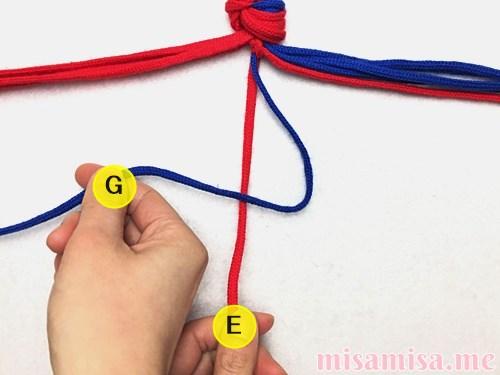 渦巻き模様ミサンガの作り方手順11