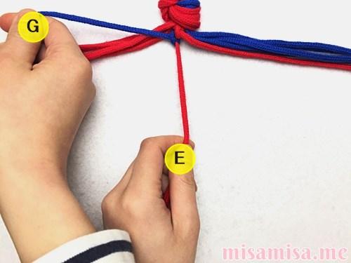 渦巻き模様ミサンガの作り方手順15