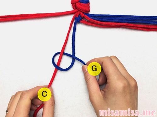 渦巻き模様ミサンガの作り方手順26