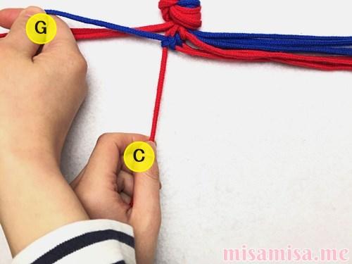 渦巻き模様ミサンガの作り方手順27