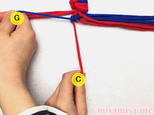 渦巻き模様ミサンガの作り方手順29