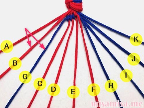 渦巻き模様ミサンガの作り方手順31