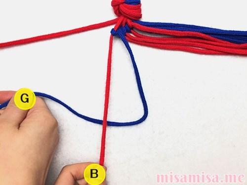 渦巻き模様ミサンガの作り方手順35