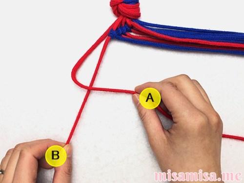 渦巻き模様ミサンガの作り方手順40