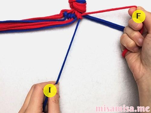 渦巻き模様ミサンガの作り方手順56
