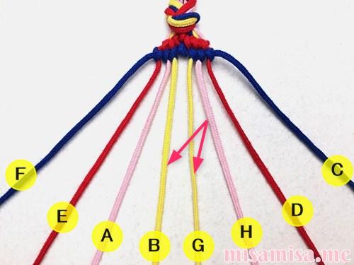 幾何学模様(ネイティブ柄)ミサンガの作り方手順101