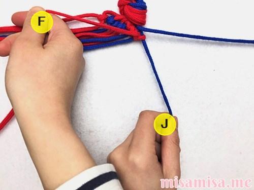 渦巻き模様ミサンガの作り方手順63