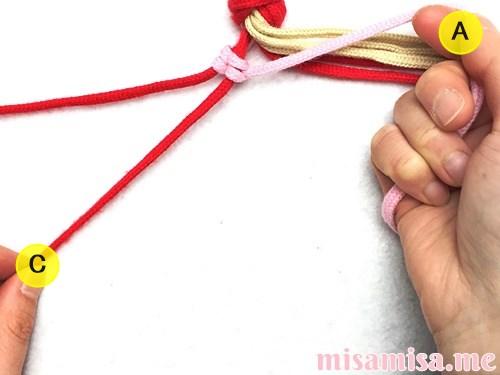 ギンガムチェック柄ミサンガの作り方手順14