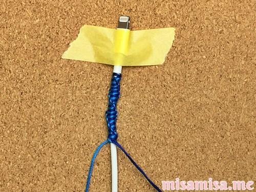 充電ケーブルミサンガの作り方手順17