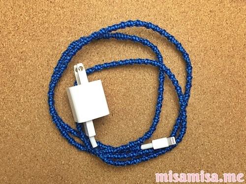 充電ケーブルミサンガの作り方手順24