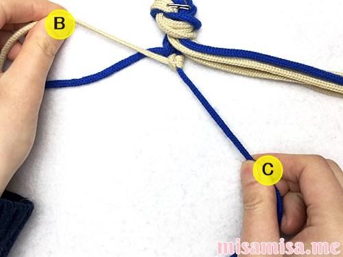 細い波(ウェーブ)模様ミサンガの作り方手順17