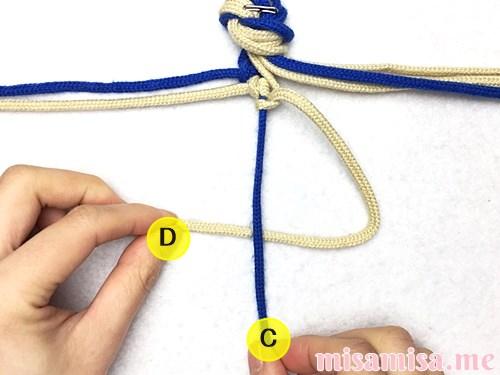 細い波(ウェーブ)模様ミサンガの作り方手順23