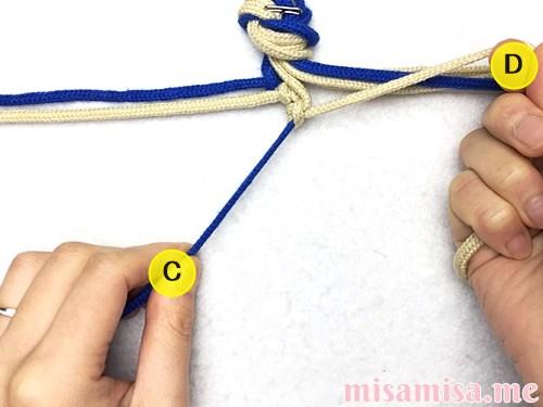 細い波(ウェーブ)模様ミサンガの作り方手順25