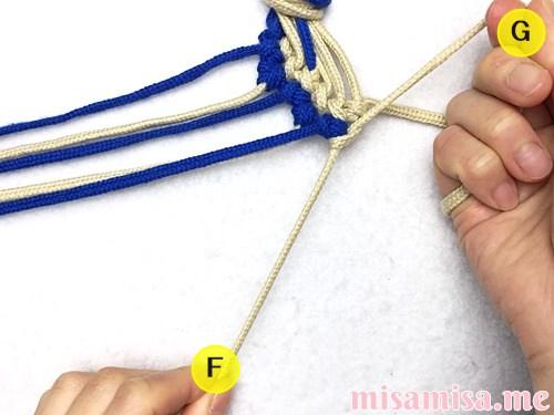 細い波(ウェーブ)模様ミサンガの作り方手順102