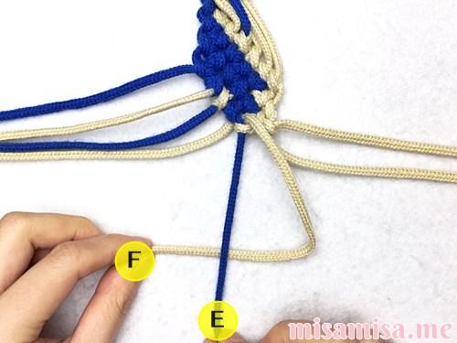 細い波(ウェーブ)模様ミサンガの作り方手順152