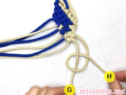 細い波(ウェーブ)模様ミサンガの作り方手順166