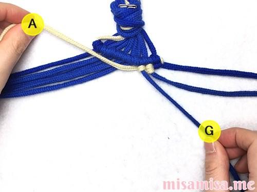 ミンサー柄ミサンガの作り方手順35