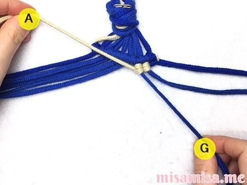 ミンサー柄ミサンガの作り方手順37