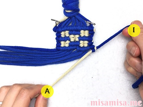 ミンサー柄ミサンガの作り方手順135