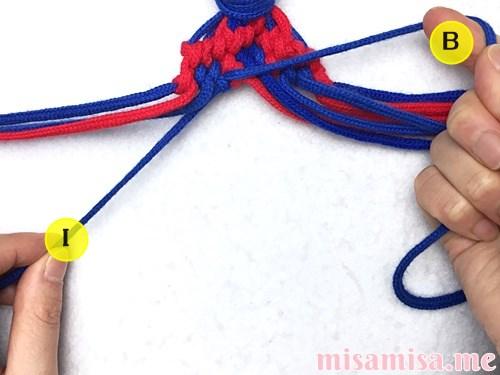 小さなひし形(ダイヤ)模様ミサンガの作り方手順174