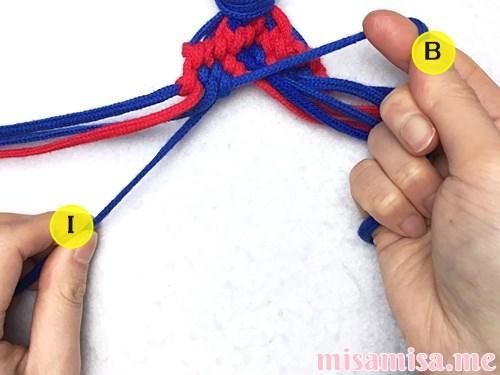 小さなひし形(ダイヤ)模様ミサンガの作り方手順176